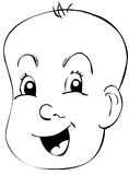 Baby Happy. A drawing of a happy baby Stock Photo