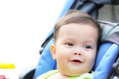 Baby is happy and cheerful smile Royalty Free Stock Images