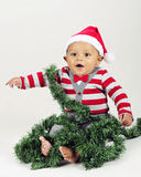 Baby Happy with Christmas Royalty Free Stock Images