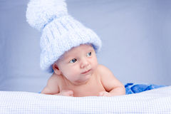 Baby in hat Stock Photography