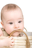 Baby in a hat. royalty free stock photo