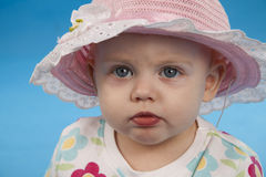Baby in a hat. Royalty Free Stock Image