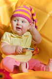 Baby in hat Stock Photos