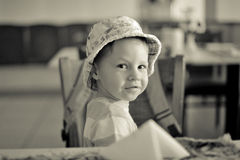 Baby in a hat Royalty Free Stock Image