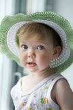 Baby in a hat royalty free stock photos