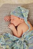 Baby in a hat Stock Photo