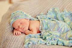 Baby in a hat Stock Photos