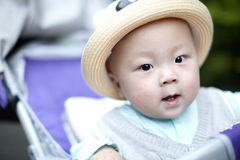 Baby in hat Royalty Free Stock Photo