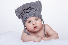 Baby in hat Royalty Free Stock Photos