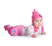 Baby hat with pigtails Royalty Free Stock Image