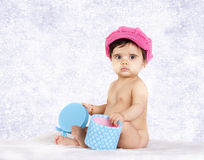 Baby hat pink Royalty Free Stock Image