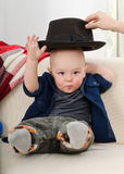Baby with a hat Stock Photography