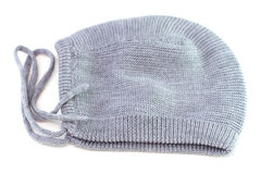 Baby hat on white Royalty Free Stock Image