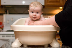 Baby Having a Bath Royalty Free Stock Image