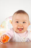 Baby having fun Royalty Free Stock Images