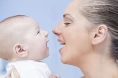 Baby having fun with his mother Royalty Free Stock Photo