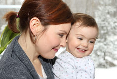 Baby having fun Stock Image