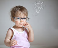 Baby having an idea Royalty Free Stock Images