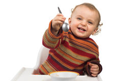Baby having meal Royalty Free Stock Images