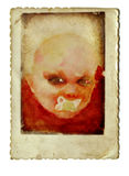 Baby head no.1 Royalty Free Stock Photo