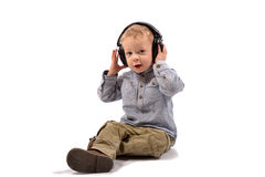 Baby headphones Royalty Free Stock Photography