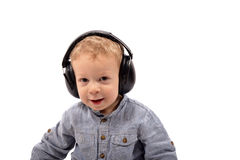 Baby headphones Royalty Free Stock Photo