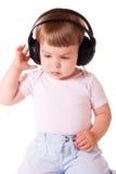 Baby in headphones Royalty Free Stock Photo