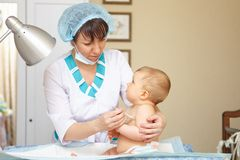 Baby healthcare and treatment. Medical symptoms. Royalty Free Stock Photography