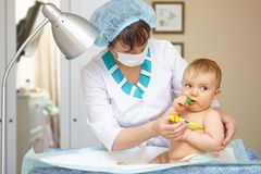 Baby healthcare and treatment. Medical symptoms. Stock Images