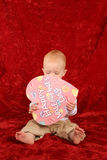 Baby with heart Royalty Free Stock Images