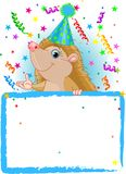 Baby Hedgehog Birthday Royalty Free Stock Images
