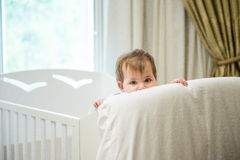 Baby in her bed Royalty Free Stock Photography