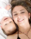 Baby and her mum Stock Photos