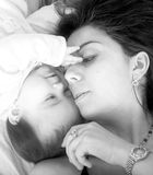 Baby and her mum Stock Images