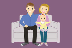 Baby and her parents vector Stock Images