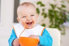 Baby het eten Stock Afbeelding