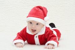 Baby in het kostuum van santa Royalty-vrije Stock Afbeeldingen