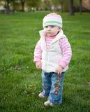 Baby in het park Royalty-vrije Stock Fotografie