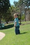 Baby in het Park stock afbeelding
