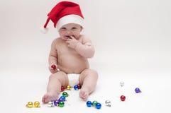 Baby in het thema van Kerstmis Stock Foto's