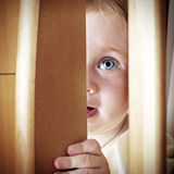 Baby Hide and Seek Stock Images
