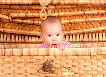 The baby is hiding Stock Images