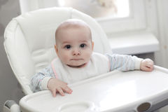 Baby in highchair Royalty Free Stock Image