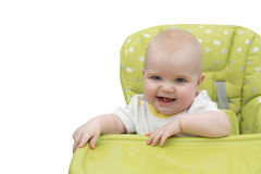 Baby in highchair stock fotografie