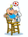 Baby in highchair cartoon Royalty Free Stock Images