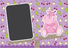 Baby Hippo on swing Stock Photo