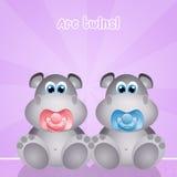 Baby hippos Royalty Free Stock Image