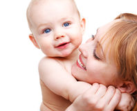 Baby and his mother Royalty Free Stock Image