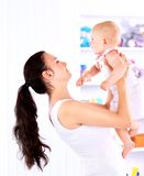 Baby and his mother Royalty Free Stock Photography
