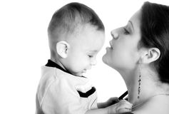 Baby and his mum - mothercare Stock Photography